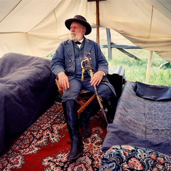 Bob Moates as General Robert E. Lee. Gettysburg, PA