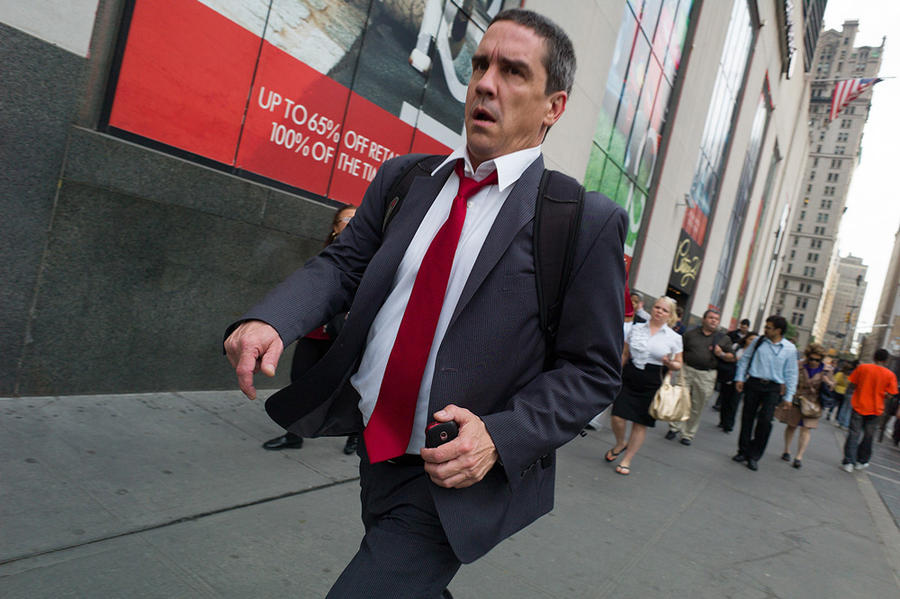 Red Tie, Church Street, New York, 2012