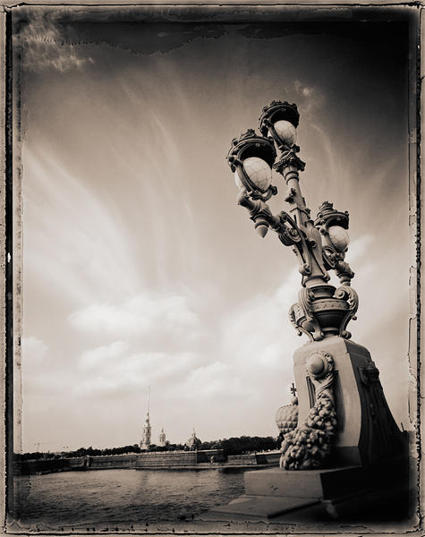 Bridge Lamp and Fortress, St. Petersburg