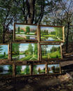 Paintings, Monastery Park, Kharkov, Ukraine 2008