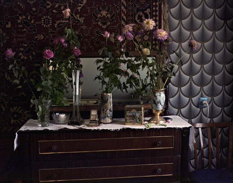 Flowers, Rug and Wallpaper, Kharkov, Ukraine 2008