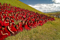 Monks, Serchul Monastery, Kham, Tibet