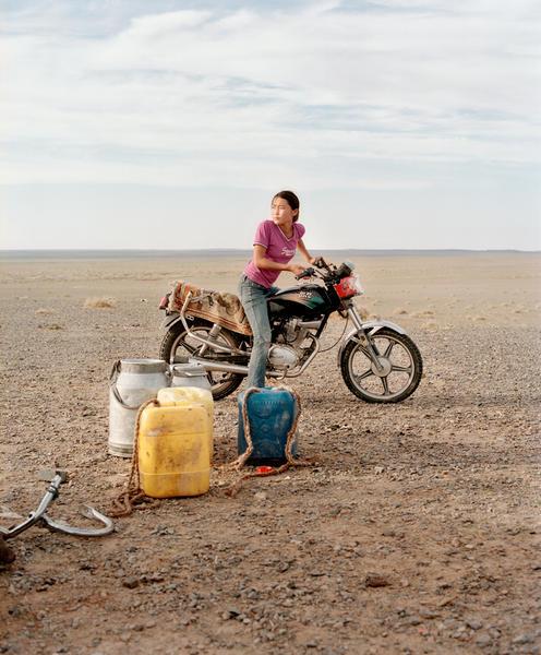 Girl in Gobi desert, Mongolia 2007