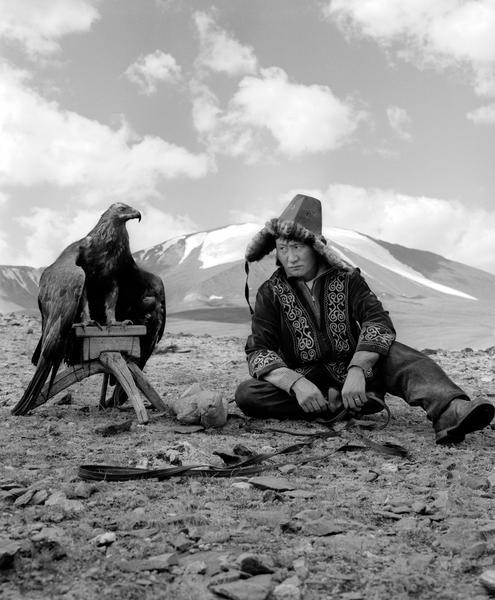 Kazakh eagle hunter, Mongolia 2007