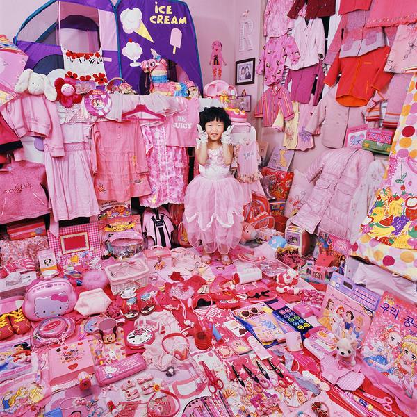Kara-Dayeoun and Her Pink Things, Light jet Print,