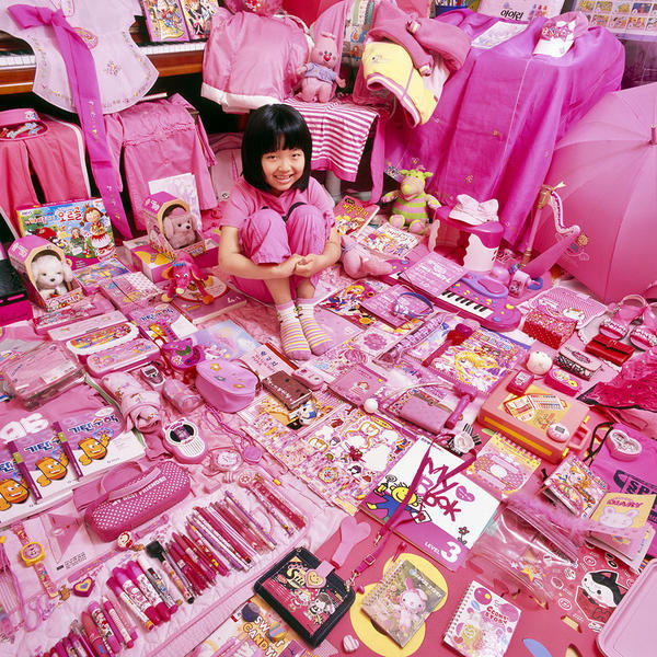 Minji and Her Pink Things, Light jet Print, 2008