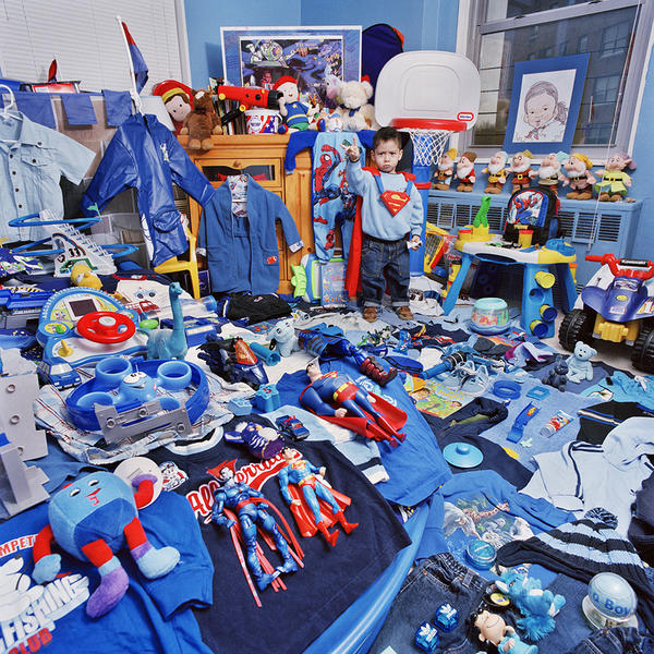 Ethan and His Blue Things, Light jet Print, 2006