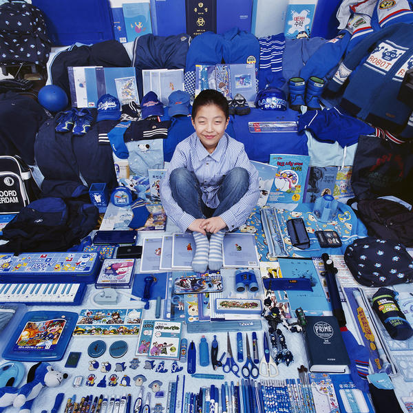 Woojea and His Blue Things, Light jet Print, 2007