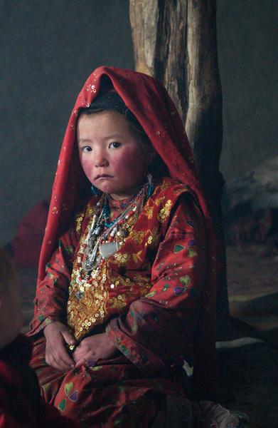 Kyrgyz girl in winter camp, Afghan Pamirs