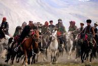Kyrgyz men play