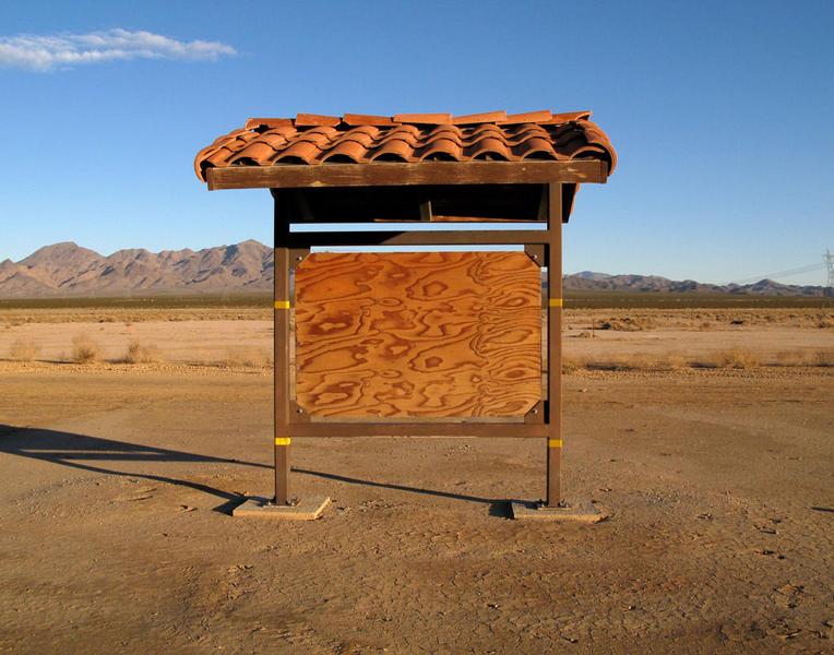Bulletin Board, Interstate 15, Primm Valley, California