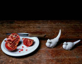 Still Life with Pomegranate and Birds