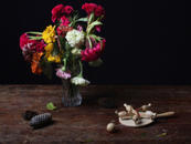 Still Life with Chicken Game and Flowers