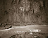 Indus River with Chorten, Ladakh, India, 2002