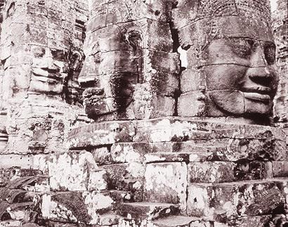 Heads, Angkor Thom, Cambodia, 1999