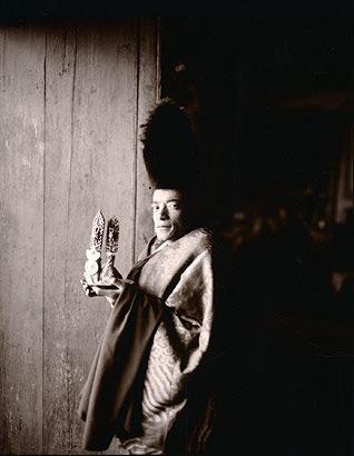 Monk Holding Torma, Phiyang Monastery, Ladakh, 1998