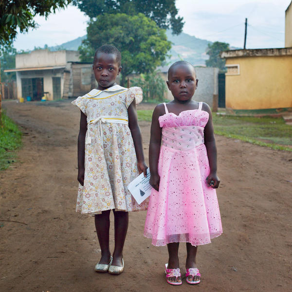 Gilrs in Sunday Dresses, Kajjansi, Uganda, 2011