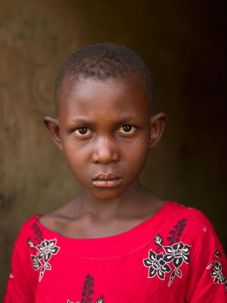 Girl in Red Dress, Kajjansi, Uganda, 2011