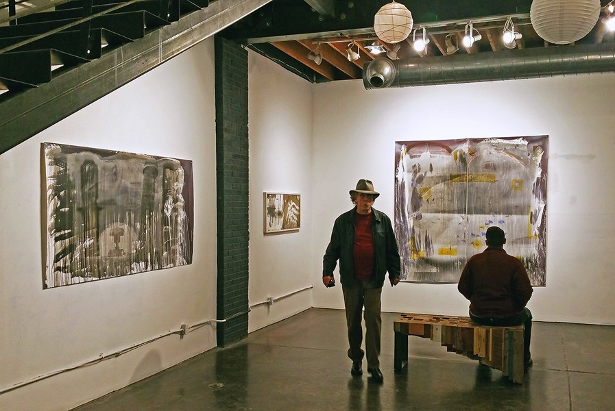 installation view of two pieces
