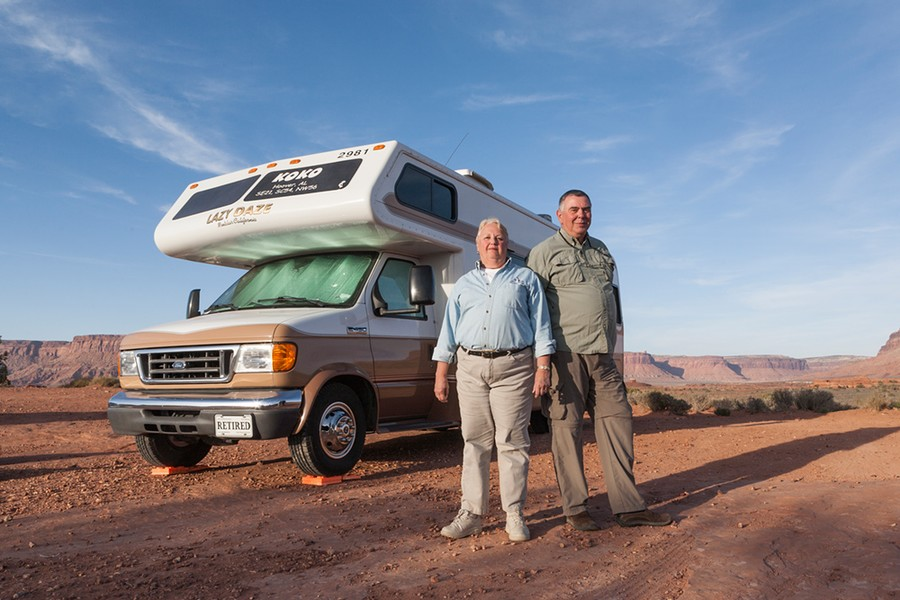 Don and Dorothy, Fulltimers. Canyonlands, UT