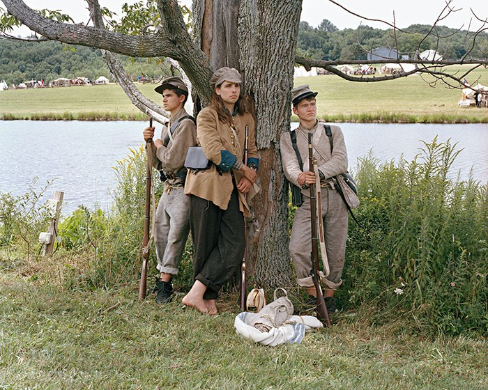 Nate, Ethan, & Mike, Confederate Soldiers