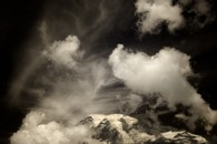 Clouds Over Mount Rainier, Washington