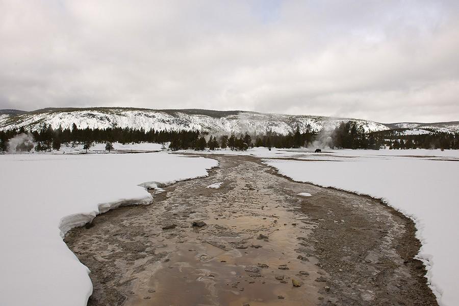 Firehole River in Winter, Upper Geyser Basin