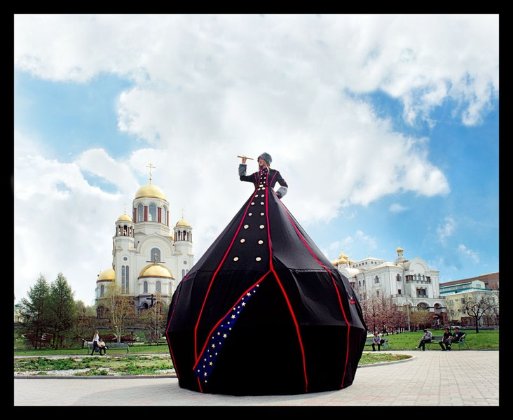 Ms. Yekaterinburg: Camera Obscura Dress Tent